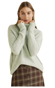 Colour Trends, Spring Colors, Mango, Curves, Things To Think About, Turtle Neck, Green, Sweaters, Shirts