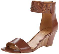 Nine West Women's Valoojan Leather Wedge Sandal, Brown, 7.5 M US Nine West http://www.amazon.com/dp/B00QYVC7ZK/ref=cm_sw_r_pi_dp_WVV.vb0A8GT57