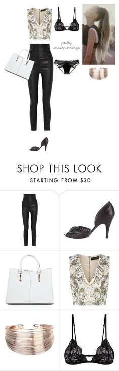 """Untitled #381"" by amory-eyre ❤ liked on Polyvore featuring Haider Ackermann, Pedro García, New Look, Alice + Olivia, Amrita Singh, Mosmann and Victoria's Secret"