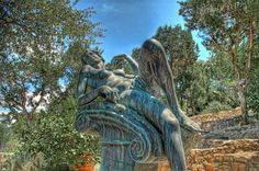 I found this statue in a garden near a yacht club on Lake Travis one day in Austin. It was just kinda there in the middle of nowhere and it had been corroded to form some interesting patterns. - Austin, Texas - Photo from #treyratcliff Trey Ratcliff at http://www.StuckInCustoms.com