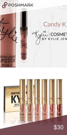 Candy K mini matte lipstick This listing is for one mini lipstick. Second photo is for color purposes. 0.02 fl oz./oz. liq / 0.65 ml Kylie Cosmetics Makeup Lipstick