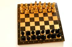 Vintage wooden Chess Set from Soviet Union USSR  von SovietGallery