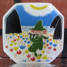Arabia Finland Moomin Wall Plate Who Will by Nordicvintagedesigns, Tove Jansson, Plates On Wall, Sculptures, Porcelain, Pottery, Kids Rugs, Magic, Etsy, Vintage