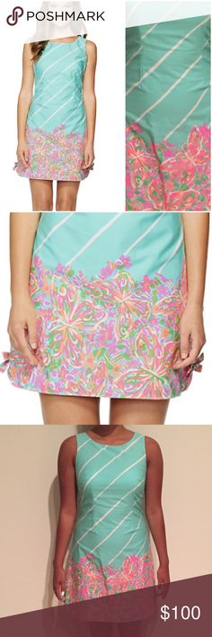 Lilly Pulitzer Delia Shift Dress Size 2  Print - Sand Bar Blue Crash Landing  Price is negotiable  Lilly Pulitzer Dresses