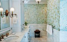 Виниловые обои в ванной #vinyl #wallpaper for #bathroom