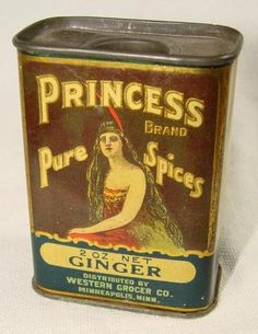 Vintage Princess Ginger Spice Tin Western Grocer Co Very Clean | eBay