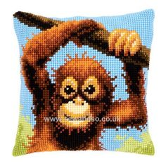 Buy Full of Mischief Cushion Front Chunky Cross Stitch Kit Online at www.sewandso.co.uk