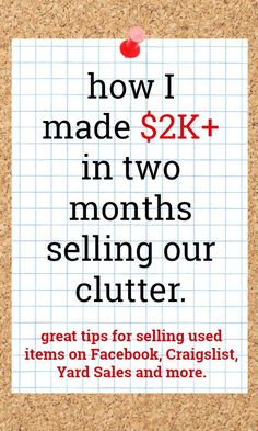 Online Garage Sale, Garage Sale Tips, Yard Sale Signs, For Sale Sign, Sell Your Stuff, Things To Sell, Sell Stuff Online, Sale My Stuff, Extra Cash