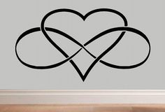 Infinity Heart Infinity symbol wall decal por WallDecalsAndQuotes
