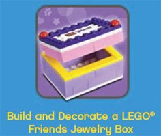 FREE LEGO Friends Jewelry Box Build at LEGO Stores on 8/1 on http://hunt4freebies.com