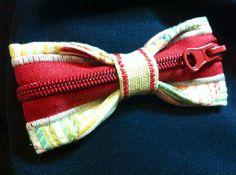 PAPILLON con cerniera rossa tessuto color Bow Tie Men di Idillyum