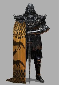 A bit too much fantasy for my taste but the cape and the whole artwork is awesome ArtStation - ASOIAF, Chenthooran Nambiarooran Fantasy Character Design, Character Design Inspiration, Character Concept, Character Art, Fantasy Armor, Medieval Fantasy, Dark Fantasy Art, High Fantasy, Armadura Medieval