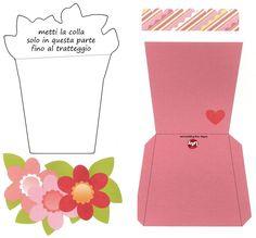 Vaso de flores cartão Dia das Mães
