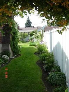 Cheap Landscaping Ideas For Back Yard - Bing Images Cheap Landscaping Ideas, Fence Landscaping, Backyard Fences, Garden Fencing, Luxury Landscaping, Pool Fence, Fence Ideas, Garden Paths, Small Backyard Gardens