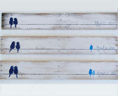RESERVED for EMILY 3 Piece Reclaimed Wood by LindaFehlenGallery