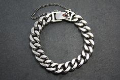 Silver Tarnished Chain Bracelet- Women from Camélia