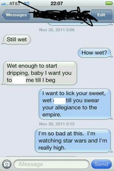 Example sexting conversations