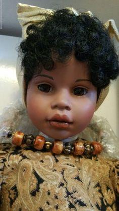 "Pauline Jacobsen Alisha Africa American 22"" doll Paisley dress necklace 17/950 #DollswithClothingAccessories"