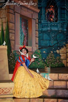 Snow White face character in the Snow White Ride