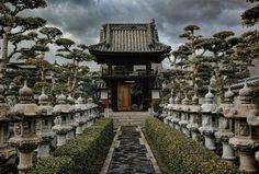 A beautiful Buddhist shrine in Kojima, Japan (Okayama Prefecture)