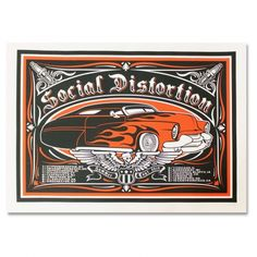 Official Social Distortion merch and music Mike Ness, Social Distortion, Screen Print Poster, Rock Posters, Rock Art, Punk Rock, Screen Printing, Projects To Try, Nerd