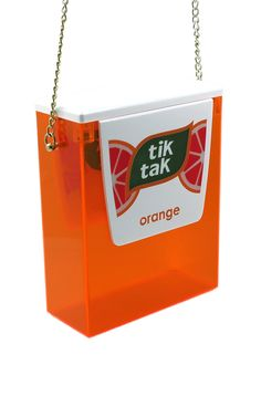 Tik Tak In Orange by Urania Gazelli for Preorder on Moda Operandi