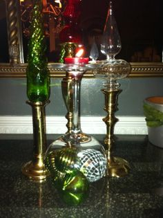 color glass ornaments are not just for the tree….