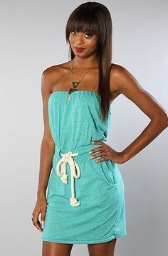 $38.95 The Marjan Strapless Dress in Ecotrue Bermuda by Alternative Apparel