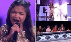 The youngster managed to hit some seriously lofty notes as she opened up the show's finale and went up against the nine other finalists.