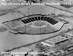 The old Denver Bears baseball stadium was once located at the . Eventually becoming the old Mile High Stadium where the Denver Broncos, Denver Bear, and then Zephyrs played. Colorado Rockies, Denver Colorado, Denver Broncos, Colorado Springs, Denver Tv, Longmont Colorado, Baseball Park, Baseball Field, Baseball Classic