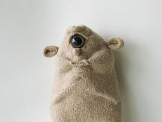 Cyclops Sock Doll Conehead Monster Art Toy Designer Toy Low Brow Comic Book Style Undgeround Comix Big Ears Beige Monster Stuffed Toy Troll