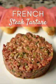 Raw Food Recipes, Pork Recipes, Easy Dinner Recipes, Cooking Recipes, Healthy Recipes, Steak Tartare, French Steak, Tartare Recipe, Frozen Meatball Recipes