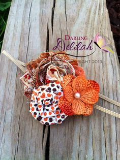 Fall Headband- Perfect for newborn photos for fall babies!!!   Sweet Cinnamon Swirl Headband Fall Headband by DarlingDelilah777, $7.00