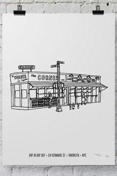 Your Favorite NYC Restaurants, Illustrated #refinery29  http://www.refinery29.com/2014/05/67083/massimo-mongiardo-knowlita-nyc#slide7  La Esquina