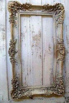 ZsaZsa Bellagio – Like No Other: Ivory, Shabby Home Inspiration - AnitaSperoDesign - Etsy Shabby Home, Shabby Chic Homes, Shabby Chic Decor, Shabby Chic Mirror, Empty Frames, Old Frames, White Frames, Antique Frames, Vintage Frames