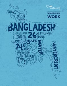 Bangladesh | 27.9 million lack access to safe water. | #WhereWeWork | Water.org