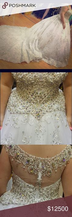 Wedding dress Hey guys im trying to sell my wedding dress that got designed at Lebanon it made all with stones and diamonds I wear the dress only for one day and the dress still super clean for any information please lemme know what do you guys think about it and also the dress got designed by a famous designer , i bought the dress for $15,000 and im selling it for $12,500 Dresses Wedding