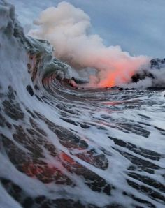Kona HI. Lava Waves. Amazing to see from above in the Blue Hawaii helicopter tour. #treasuredtravel