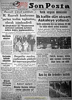 son posta gazetesi 28 ikinci kanun 1943