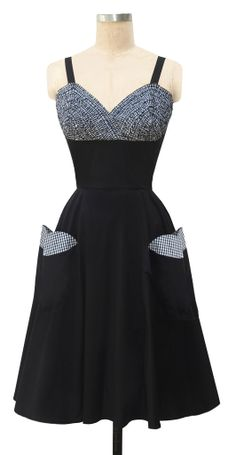 Trashy Diva Apple Pie Dress | Retro Inspired Dress | Black Gingham - perfect for Mommy and Me