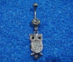 Cute owl belly rings navel ring bar button body piercing jewelry on Etsy, $8.00