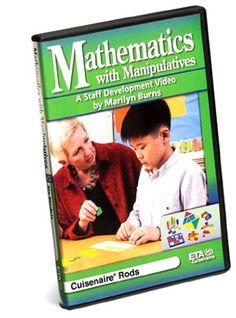 ETA Staff Development Video Series: Mathematics with Manipulatives by Marilyn Burns, Cuisenaire Rods DVD Charlotte Mason Curriculum, Kindergarten Curriculum, Back To School Sales, Early Childhood, The Ordinary, Mathematics, School Supplies, Burns, Link