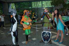 Midna, SkullKid, Link, and Navi | #Zelda cosplay group