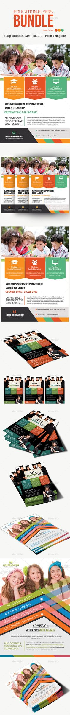Education Flyers Bundle — Photoshop PSD #play ground #flyers bundle • Available here → https://graphicriver.net/item/education-flyers-bundle/15708845?ref=pxcr