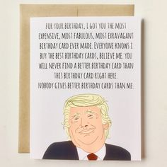 So many people requested a Donald Trump birthday card from me. I wouldn't do it. Not because of political beliefs, but because there are SO MANY out there already! Alas, I made one My name is Debbie and I approve this bday card
