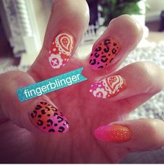 Wah inspired paisley gradient nails :) one of my fave nails!!