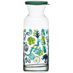 Diese einen Liter fassende Karaffe von Sagaform ist mit dem kreativen Fantasy-Muster der Designerin Hanna Werning verziert. Perfekt zum Servieren von Wasser oder Fruchtsäften, Gläser mit demselben Muster sind ebenfalls über uns bestellbar.