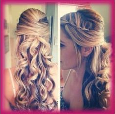 Since we are all stuck doing our own hair for the wedding this could be a good option for me. I love how it takes a simple look then on the side there is a twist braid I think I can make this work too!