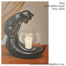 Peep  By Pratibha Gupte  Buy this from The Art and Craft Gallery