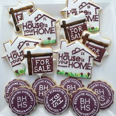 Please by my house! Cookies for an open house :) #cookies #customsugarcookies